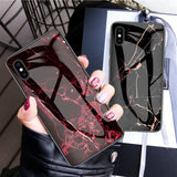 Granite Stone Marble Case For iPhone X XS Max XR XS 6 6S 7 8 Plus