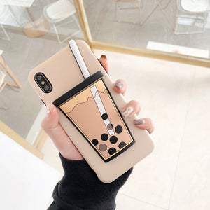 Korean Bubble Tea Phone Case for iPhone X XS MAX XR 7 8 Plus