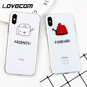 Cartoon Funny Case For Apple iPhone X 8 7 6