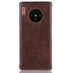Leather Case Hard Matte Back Cover Coque Bumper for Huawei Mate 30 Pro 5G 20 Lite Pro