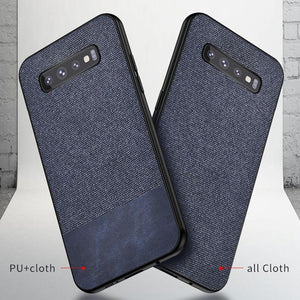 Fabric Cloth Soft Silicone Phone Cases for Samsung S10 S10 Plus S10E S8 S9 Plus Note 8 9
