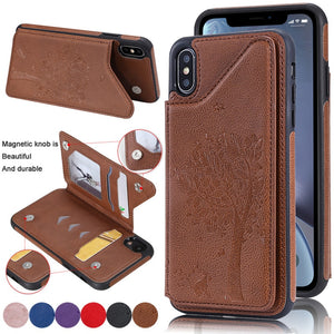 New Leather Wallet Card Holder Case For iPhone X XS Max XR 8 7 6S 6 Plus