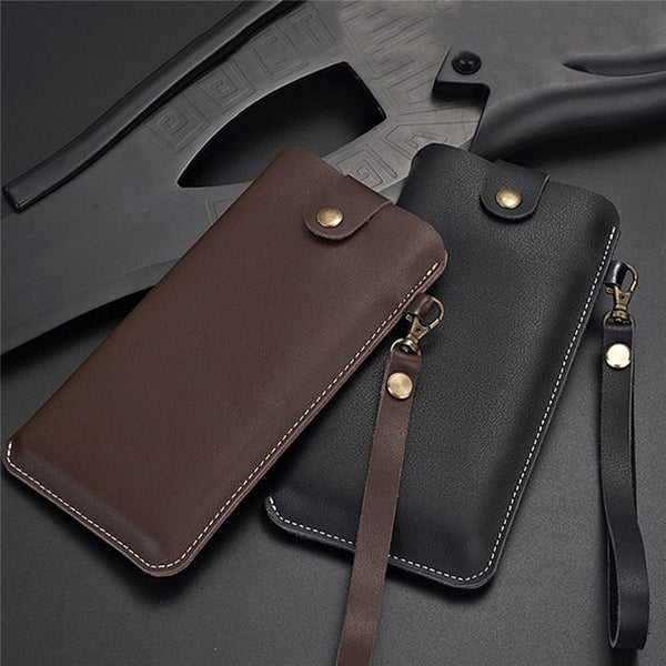 Business Leather Storage Bag Shockproof Case for Samsung Galaxy Fold