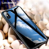 Luxury Business Plain Pattern Tempered Glass Case For iPhone X 8 7 6 6S Plus