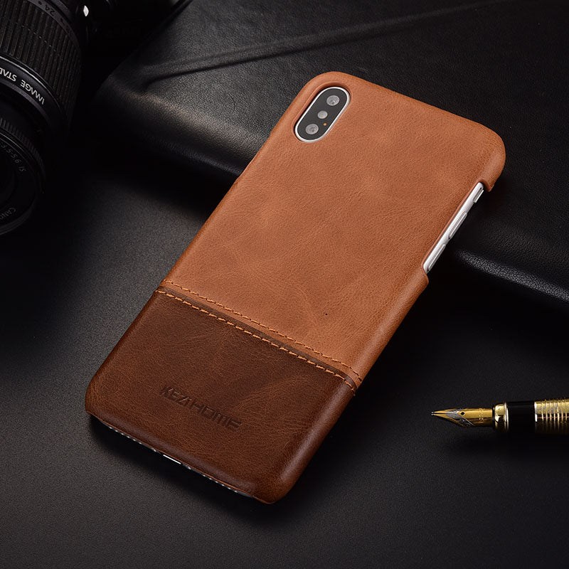 the best attitude 2aa80 52e05 Luxury vintage genuine leather back case for iPhone X XS Max