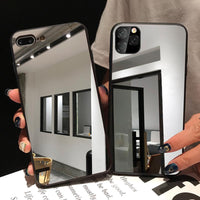 Luxury Acrylic Mirror Case Soft Silicone Edge Cover For iPhone11 Pro Max