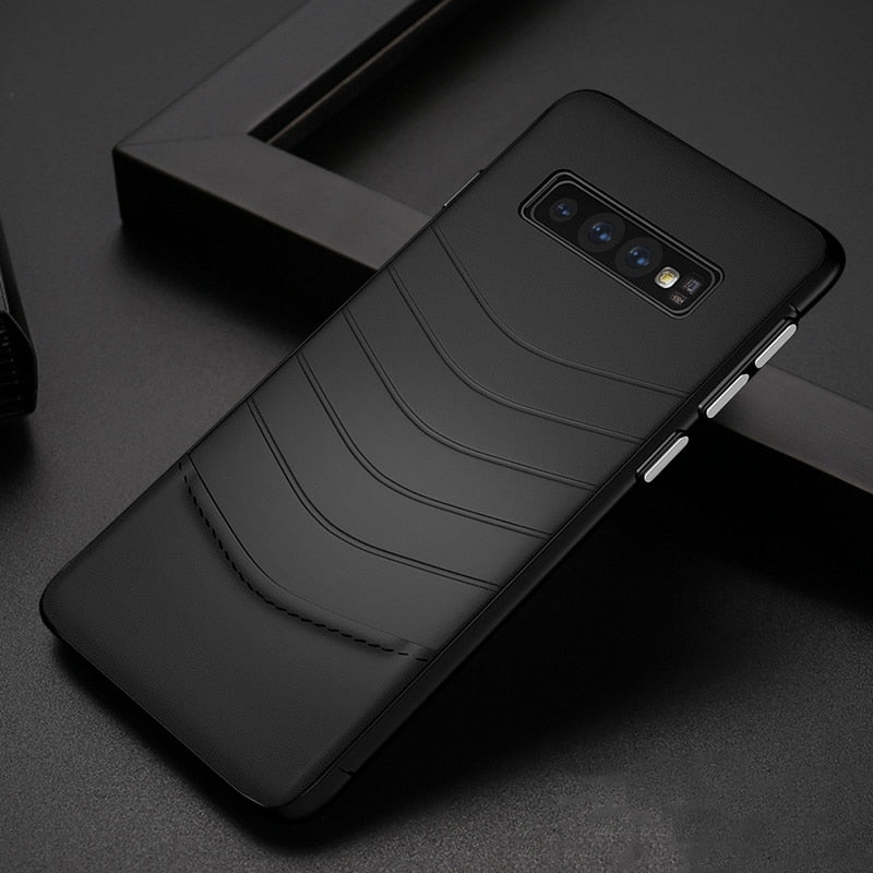 check out 63db6 3f245 2019 Best Design Ultra Thin PU Leather Phone Case For Samsung Galaxy S10  Plus S10e S8 S9 Note 8 9