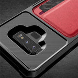 Luxury Card Wallet Case Hybrid Silicone Bumper Slim Soft Leather Back Cover for Samsung Galaxy Note 9 S9 S10 Plus S9 S10e