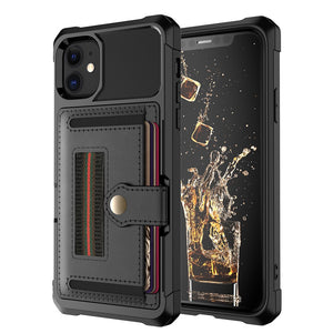 Luxury Card Magnetic Holder Leather Soft TPU Protection Cover Case For iPhone 11 Pro Max