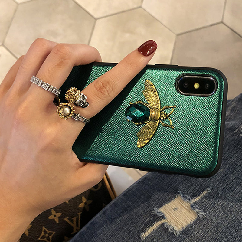 factory authentic a7dcf 4d424 Luxury Fashion Diamond Bee Case for iPhone X XR XS Max - The Bananas ...