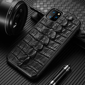 Luxury Genuine Crocodile Leather 360 Full protective Case For iPhone 11 11 Pro Max X XS Max XR