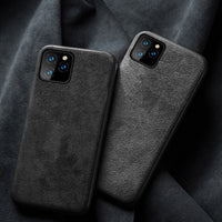 Luxury Genuine Leather Case Suede Soft Touch Shockproof Cover For iPhone 11 Pro Max
