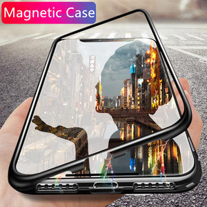 Luxury Magnetic Adsorpti Phone Case On The For Huawei P20 Pro P20 Lite