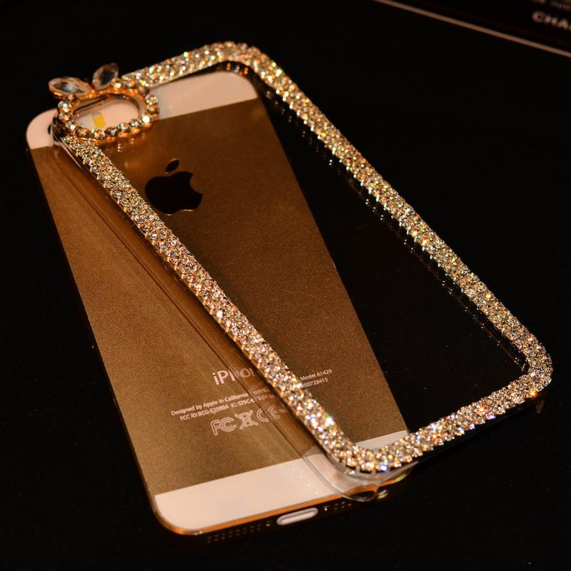 6cba98eb554806 Luxury Rhinestone Diamond Bling Claw Chain Jewelry Crystal Phone Cases  Cover for iPhone 4 4S 5