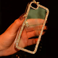 Luxury Rhinestone Diamond Bling Claw Chain Jewelry Crystal Phone Cases Cover for iPhone 4 4S 5 5S 5SE 6 6S 7 Plus
