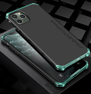 Luxury Shockproof Armor Element Metal Case For iPhone 11 Series