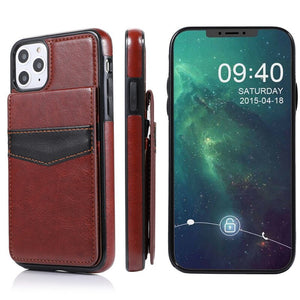 Luxury Vertical Flip Wallet PU Leather Case for iPhone 11 X XR XS Max