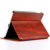 Luxury Vintage Leather Cover Case for Apple iPad 2018 9.7 inch