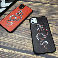 Luxury Brand 3D Snake Super Relief Soft Silicone Case for iPhone 11 Series