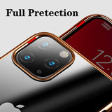 Luxury Plating Clear Transparent Phone Cover For iPhone 11 Pro Max