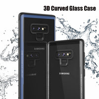 Galaxy Note 9 Case Soft Frame 3D Curved Tempered Glass Back Cover