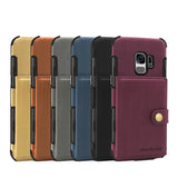 PU Leather Case For Galaxy S9 With Pouch Back