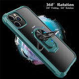 Magnetic Bumper Shockproof Ring Stand Holder Phone Cases For iPhone 11 Series