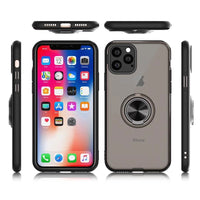 Magnetic Ring Holder Silicone Bumper Transparent Matte Cases For iPhone 11 Series