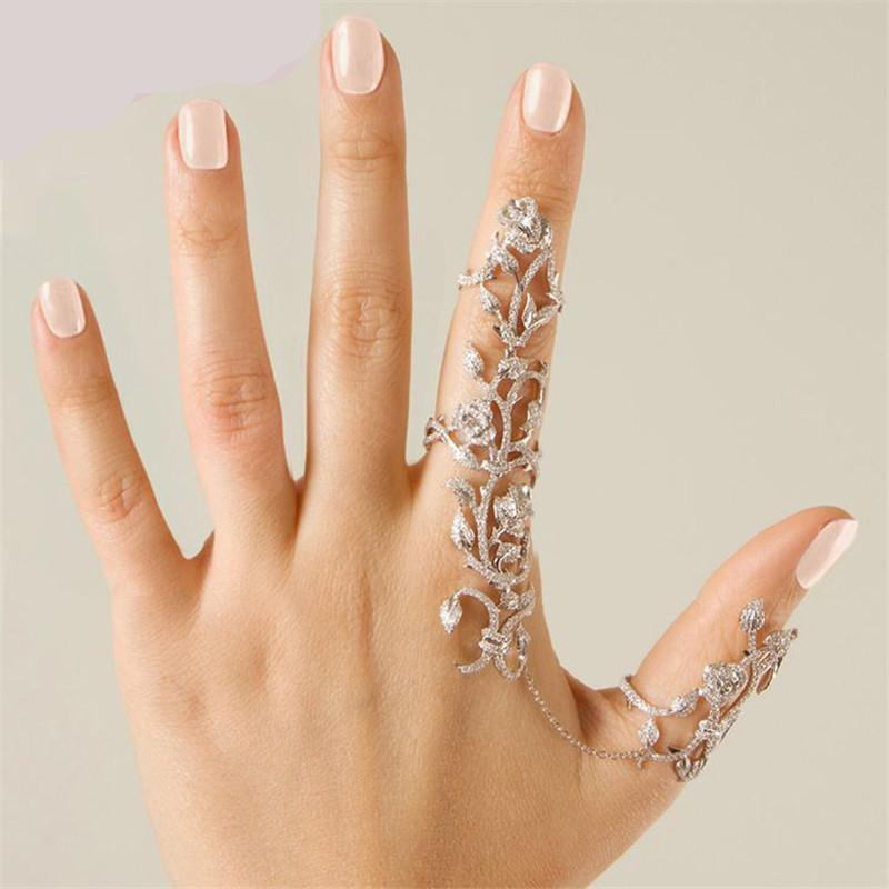 Rhinestone Shiny Crystal Floral Ring Celebrity Party