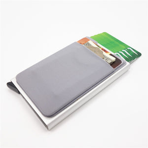 Men Aluminum Wallet  ID Card Holder