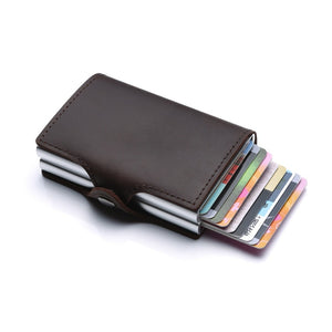 Unisex Credit Card Holder Horse Leather Wallet
