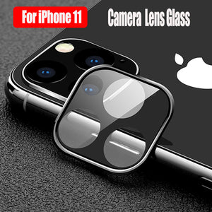 Back Camera Lens Tempered Glass Protector with Metal Frame for iPhone 11 Pro Max