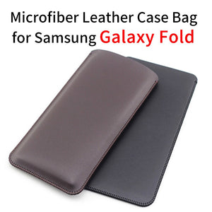 Microfiber Leather Ultra Thin Protective Case Bag for Samsung Galaxy Fold