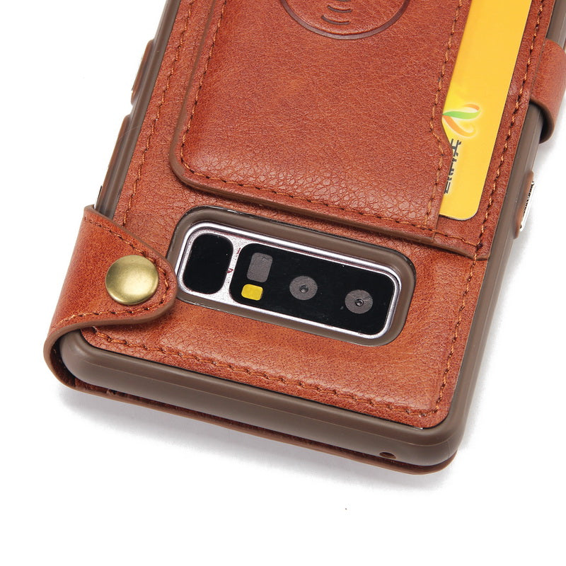 ed201ce04c9a Zipper Leather Wallet Case For Samsung Galaxy Note 8