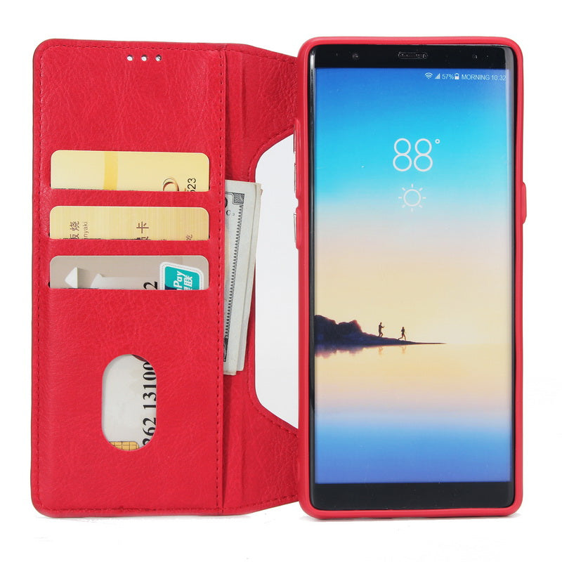 33f289cb1bc2 Zipper Leather Wallet Case For Samsung Galaxy Note 8 - The Bananas Store
