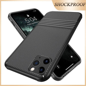 Luxury Soft Silicone Carbon Brazing Shockproof Case For iPhone 11 Series