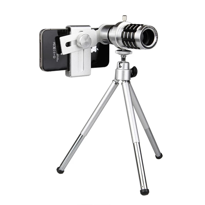 12X Zoom Mobile Phone Telescope Camera Lens For iPhone Samsung
