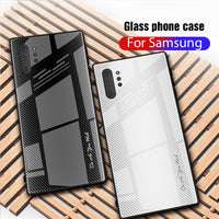Sofe TPU Bumper Tempered Glass Case For Samsung Note 8 9 10 Pro S 8 9 10 10 Plus 10e A50 A70