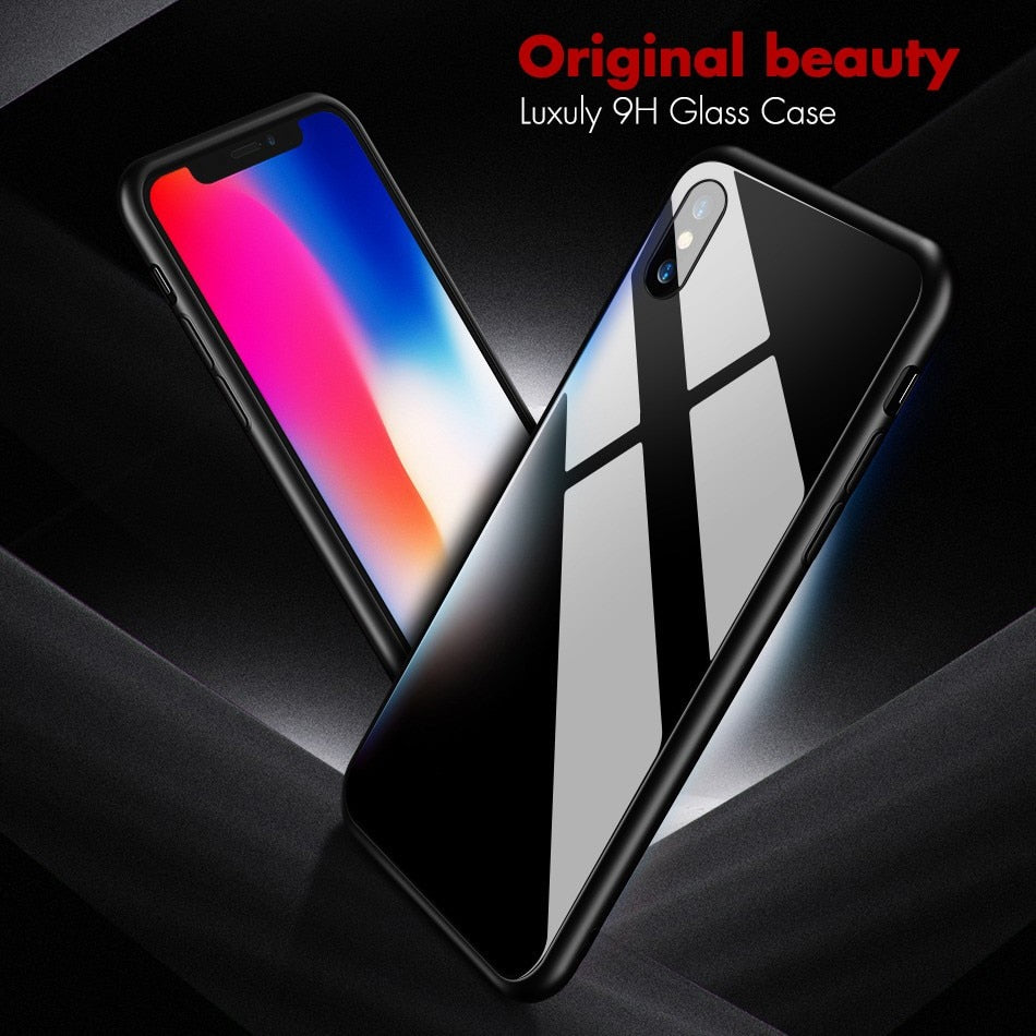 Glossy Tempered Glass Back Cover For Oneplus 6 6T - The