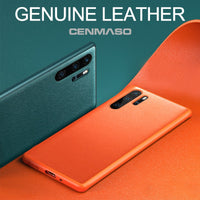 Original Genuine Leather Official Color Soft Silicone Heavy Duty Protection Cover for HUAWEI MATE 20 30 Pro P20 P30 Lite