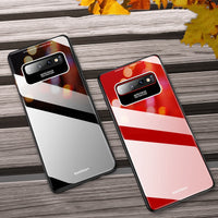 Shockproof Plating Mirror Hard Back Cover for Samsung Galaxy S10 plus Note 10 Plus