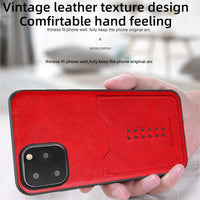 Soft PU Leather Anti Fall Card Slot Case Cover For Iphone 11 Pro Max X Xr Xs Max
