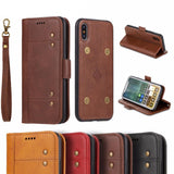 New Business Deluxe Leather Flip Case For iPhone X