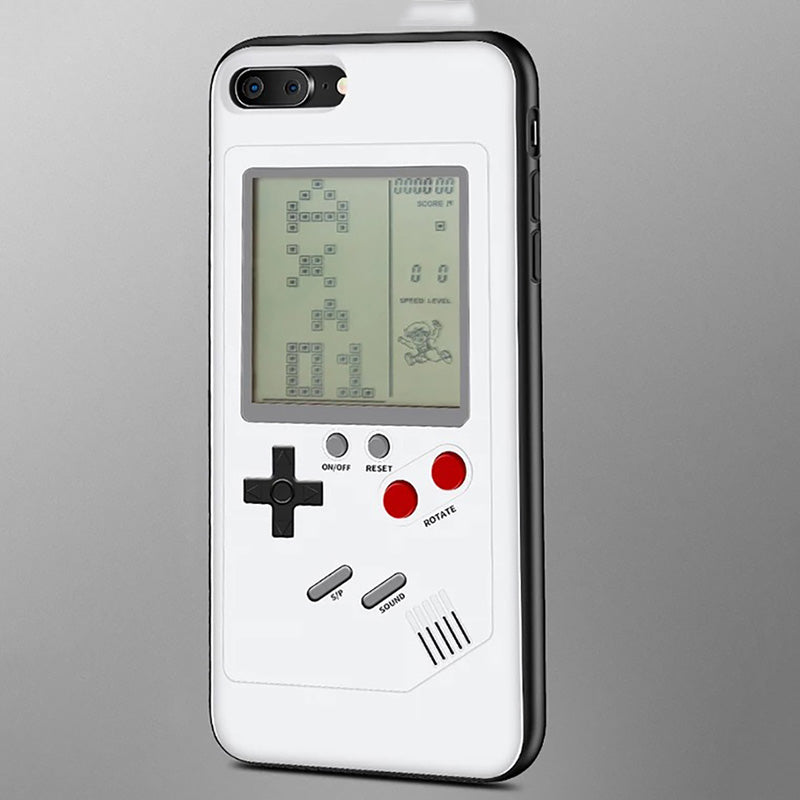 cheaper be2e7 bdae7 Gameboy Tetris Phone Case For iPhone X 8 7 Plus