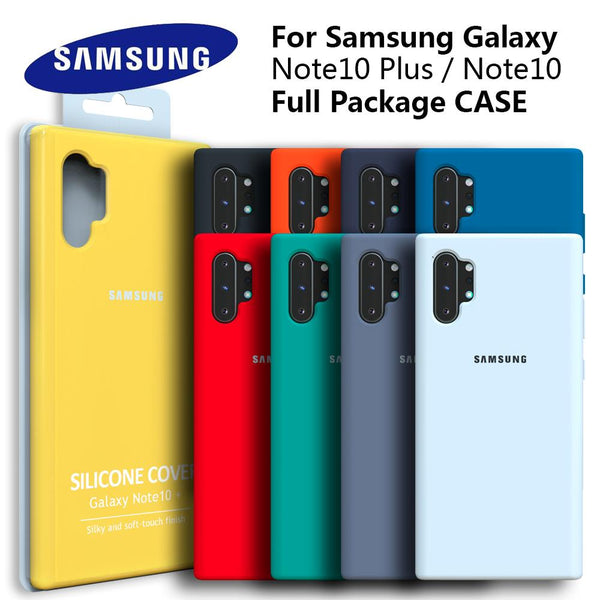 Original Liquid Silicone Soft Back Cover for Samsung Galaxy Note10