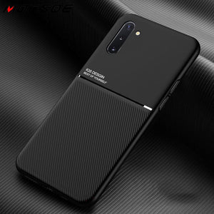 Slim Matte Leather Texture Car Holder Cover Case For Samsung Galaxy S20 Plus Ultra S10 S9 S8 Note  10 9 8 A50 A30 A20