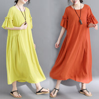 Summer dress new large size women's slightly chubby