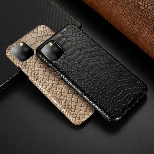Snake Skin Leather Anti-knock Phone Case for iphone 11 Series