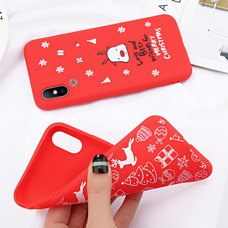 on sale 15732 8df3f Christmas Tree Phone Case For iPhone XS Max X XR 8 Plus