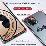 Ultra thin Metal Batman Matte PC Magnetic Protection Phone Case For iPhone 11 Series